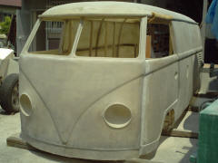 Replica of early VW bus
